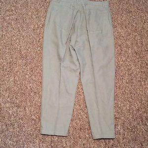Talbots Jeans - Talbots 14, Linen/Cotton 5 pocket Sage green Jeans